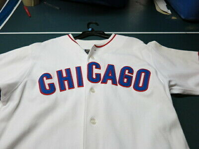f518df9aa0e NEW rare Vintage CHICAGO CUBS Cooperstown collection jersey SIZE LARGE