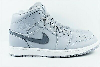 1a185c860c8 Nike Air Jordan 1 Mid Mens Multi Size Shoes Wolf Cool Grey 554724 033