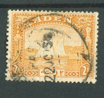 Aden KGVI 1937 2r yellow SG10 used