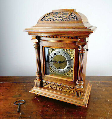 Antique Bracket Mantel Clock Westminster Chime Quarter Strike by HAC Germany