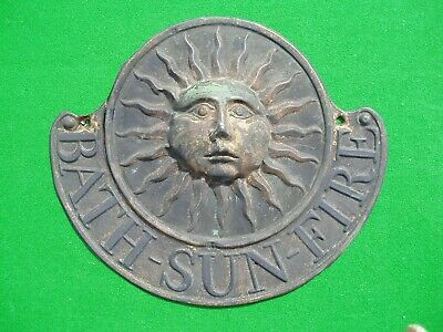 Original Bath Sun Fire Office Copper Fire Mark issued prior to 1838.