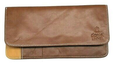 Ladies Wallet Soft Multi Coloured Hand Double-Stitched Real Nappa Leather Long