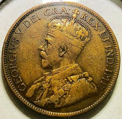 1917 Canadian Large Cent Extremely Fine