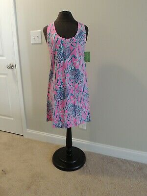 bcdcd00dfb3b1f NWT Lilly Pulitzer Sz Small Raylee Dress Mandeville P Extra Lucky Pink  Elephants