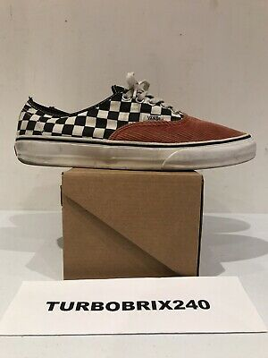 6e95834acb USED WORN Supreme Vans Checkerboard Corduroy Coral Red SZ 10 Replacement Box