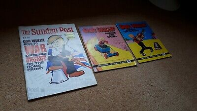 Oor Wullie Comic Book Summer Fun Special 1987 1988 and at Oor Wullie War special
