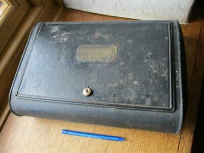 Original antique Tin Toleware Candle box Bell & Candle Co Liverpool poss ships