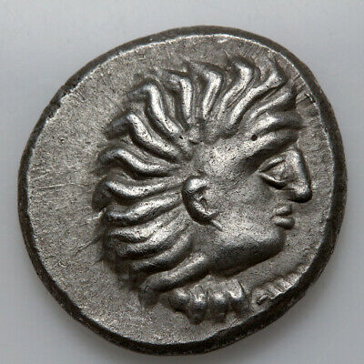 Celtic Silver Coin Drachm Imittating Alexander The Great Ca 200-100 Bc