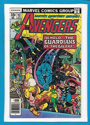 Avengers #167_January 1978_Very Good/fine_Guardians Of The Galaxy_Bronze Age!