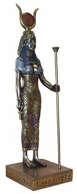 "8.75"" Egyptian Hathor Sculpture Ancient Egypt God Statue Pagan Figure Mother Cow"