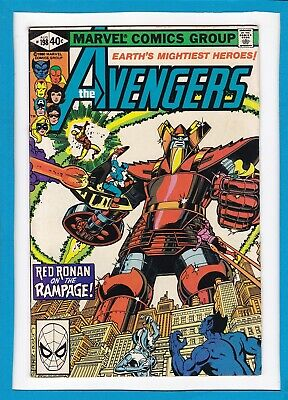 """Avengers #198_August 1980_Vf+_""""red Ronan On The Rampage""""_Bronze Age Marvel!"""