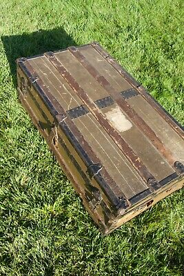 Antique Steamer Trunk Mothers Day Gift Local Pick Up only