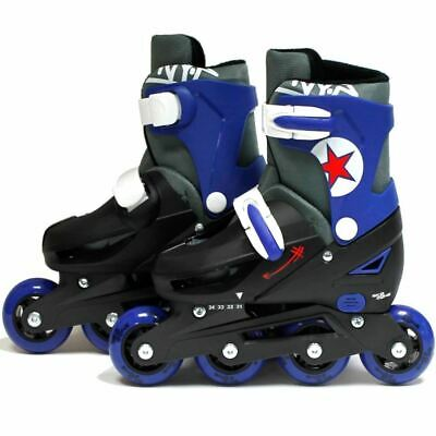 SK8 Boys Zone 2in1 Adjustable Roller blades & quad skates size L: 3-6 (35-38 EU)
