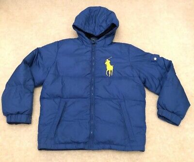 Boys Polo Ralph Lauren 14-16 L Puffa Jacket Blue Great Condition Hooded