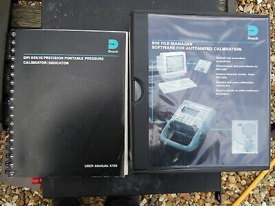 Druck DPI 605(IS) Pressure Calibrator original manual and software