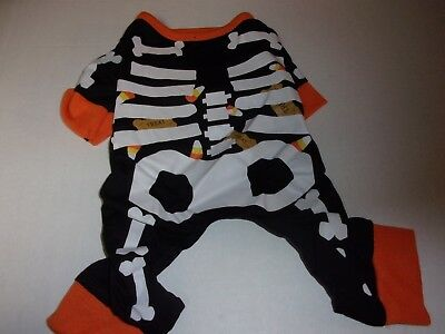 Skeleton Puppy Dog Pajamas pet Pj's pjs S costume halloween small puppy clothes