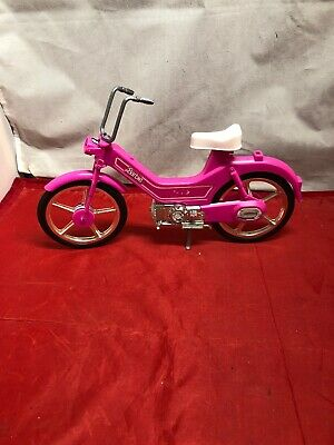 Vintage 1983 Barbie Hot Pink Moped SCOOTER Motor Bike Bicycle Mattel
