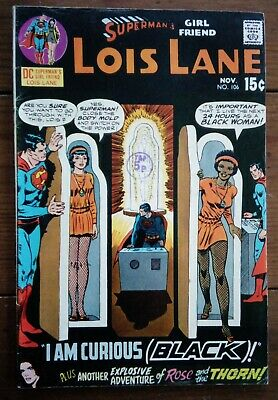 Superman's Girl Friend Lois Lane 106, Nov 1970, 1St Black Lois, Dc Comics, Fn-