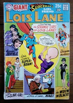 Superman's Girl Friend Lois Lane 95, Neal Adams Cover, Oct 1969, Dc Comics, Gd