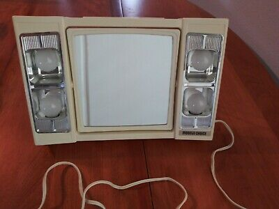 Vintage Model's Choice Faces West Inc Makeup Lighted Magnifying Mirror