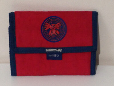 Scribbly Koala Red and Blue Nylon Wallet with Hook and loop fastening
