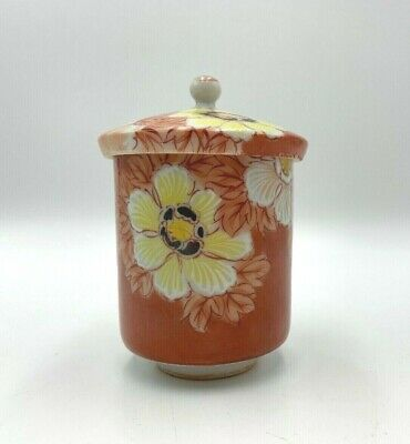 Antique Vintage Japanese Tea Cup with Lid Cover Signed