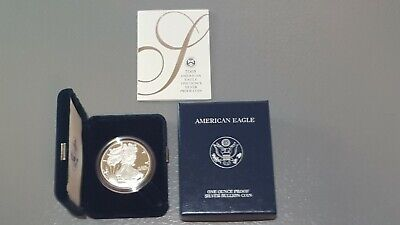 2005 Silver American Eagle Proof 1 oz US Mint Coin with Box and COA