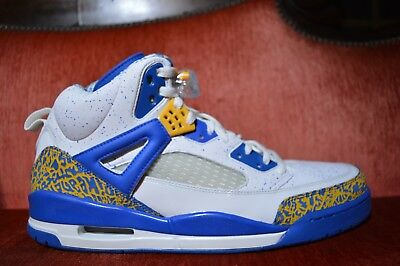 low priced 44cb7 2f51a Nike Air Jordan SPIZIKE DTRT DO THE RIGHT THING WHITE RED GOLD ARGON BLUE 15