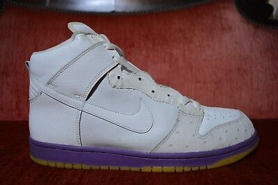 new style 10075 5ed5e RARE Nike Dunk High Deluxe White Ostrich Hyacinth Purple Gum Size 11  312032-111