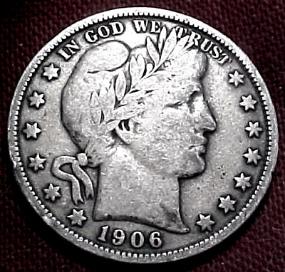 1906 Barber Half Dollar...........min. Bid .01 & No Reserve!