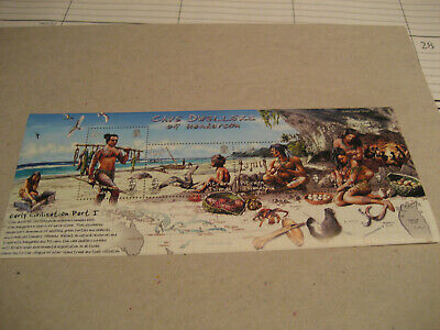 Pitcairn Island   2006  Cave Dwellers Of Henderson- Early Civilisation  Sheet