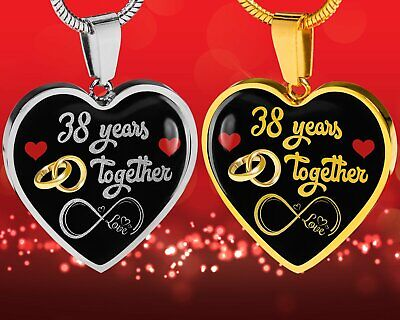 Personalized Engraved 38th Wedding Anniversary Gift For Her, Married 38 Years