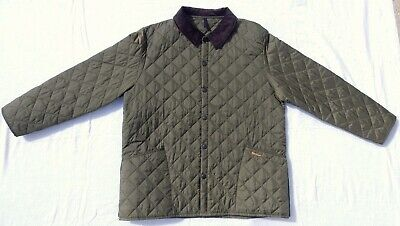 Barbour Mens Liddesdale Quilted Jacket Size XXL Green Excellent Condition. Nice!