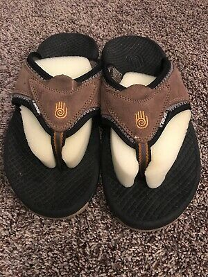 ee6aedd9e TEVA MENS SIZE 8 Flip Flop Thong Sandals Outdoor Shoes Brown Suede ...