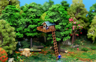 N Scale Treehouse Building DIY Cardstock Kids Tree House Kit With Ladder