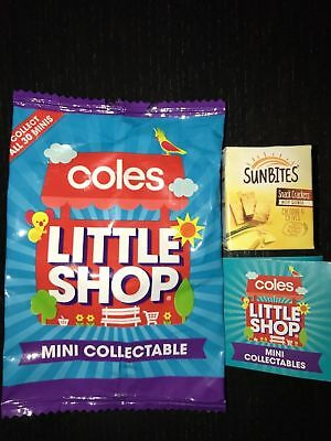 Coles Little Shop Mini Collectables-Sunbites