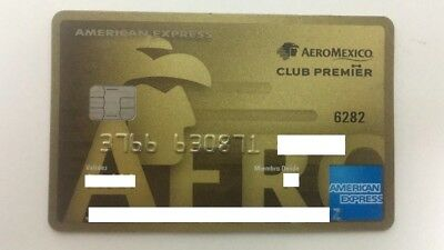 Mexico - American Express - Expired - Credit Card - Airline - Aeromexico - Gold