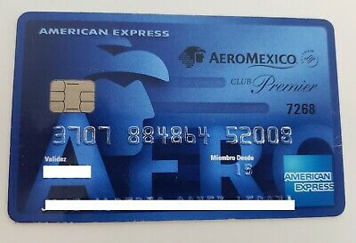 Mexico - American Express - Expired - Credit Card - Airline - Aeromexico - Blue