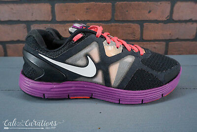 1dd1f7e688fa NIKE LUNARGLIDE 7 Womens Black Lace Up Running Shoes Size 8.5 ...