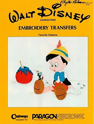 Walt Disney Characters Embroidery Transfers by Paragon Needlecrafts No. 2102