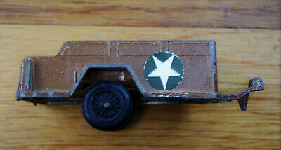 Vintage Diecsast TOOTSIETOY Army Trailer, Brown with Decals