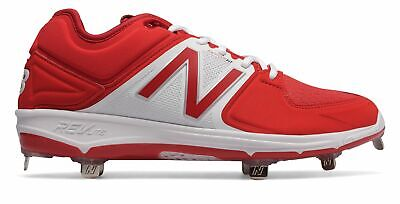 New Balance Low-Cut 3000v3 Metal Baseball Cleat Mens Shoes Red with White