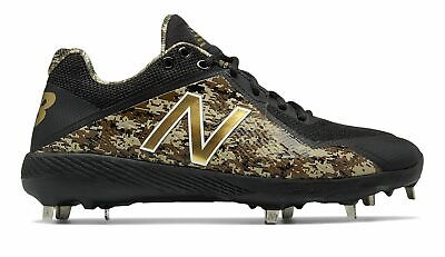 New Balance Low-Cut 4040v4 Metal Baseball Cleat Mens Shoes Black with Green Size