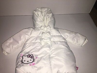 Brand New- Hello Kitty Girls Winter Hooded Coat (Size 12 Months)