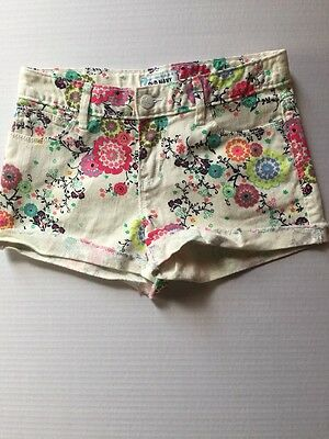 Preowned- Old Navy Girls Stretch Denim Shorts Size 12