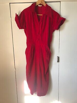 VINTAGE RED DRESS (suggested Size 10)