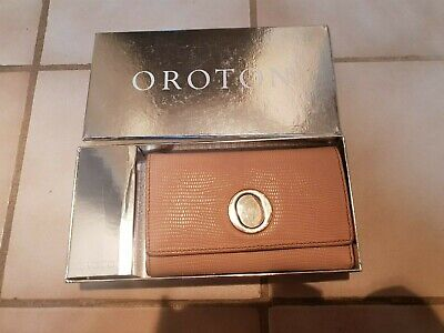 Oroton 'The Lido' Highfold leather Purse Preloved With Box