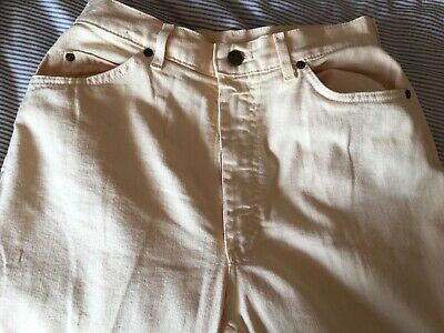 Vintage Lee Riders High waist pale yellow 10/12 jeans made in USA