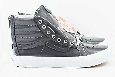 160f65143fc92f Vans SK8 Hi Cup Leather Mens Size 7 Desert Tape BlcDBlc Skate Shoes Pewter  Gray