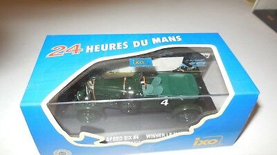 Bentley Speed six   n° 4  Le Mans 1930     Ixo models  LM1930  1/43